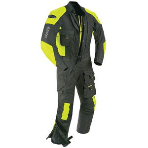 Joe Rocket 'Survivor' Mens Black/Hi-Visibility Yellow Textile Riding Suit