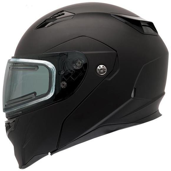 Bell Revolver Evo Rally Matte Black Modular Snowmobile Helmet with Electric Shield
