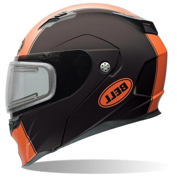 Bell Revolver Evo Rally Matte Orange Modular Snowmobile Helmet with Electric Shield