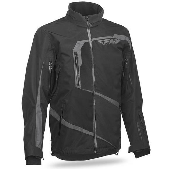Fly Racing Carbon Men's Black/Grey Snowmobile Jacket