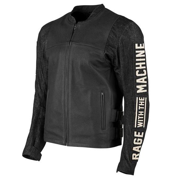 Speed and Strength 'Rage With The Machine' Men's Black Denim/Leather Jacket